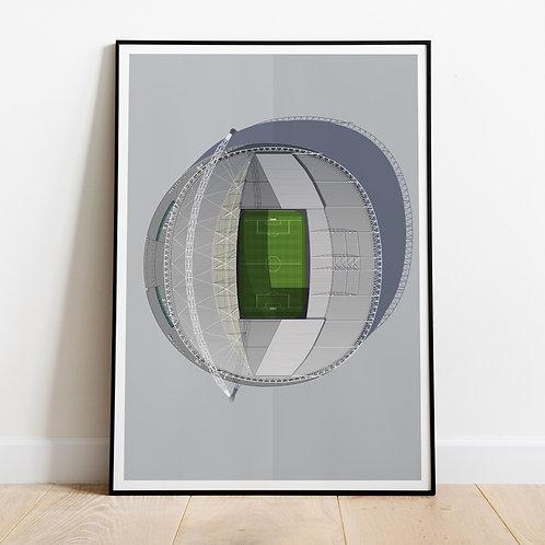 New Wembley Stadium Print