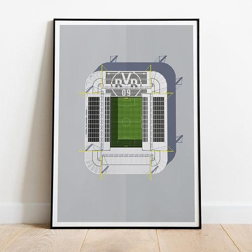 Borussia Dortmund Westfalenstadion Stadium Print