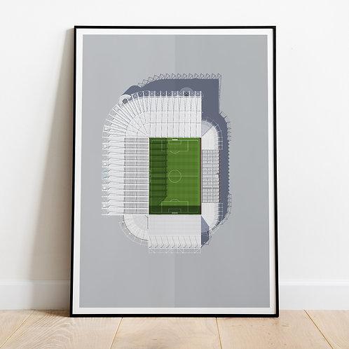 Newcastle United St James' Park Stadium Print