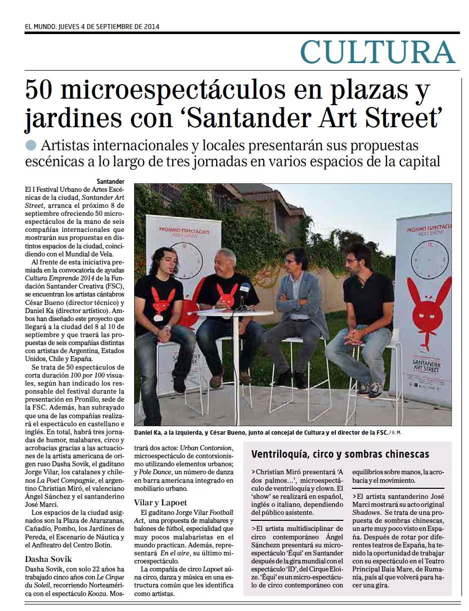 El Diario Montañés - 04/09/2014