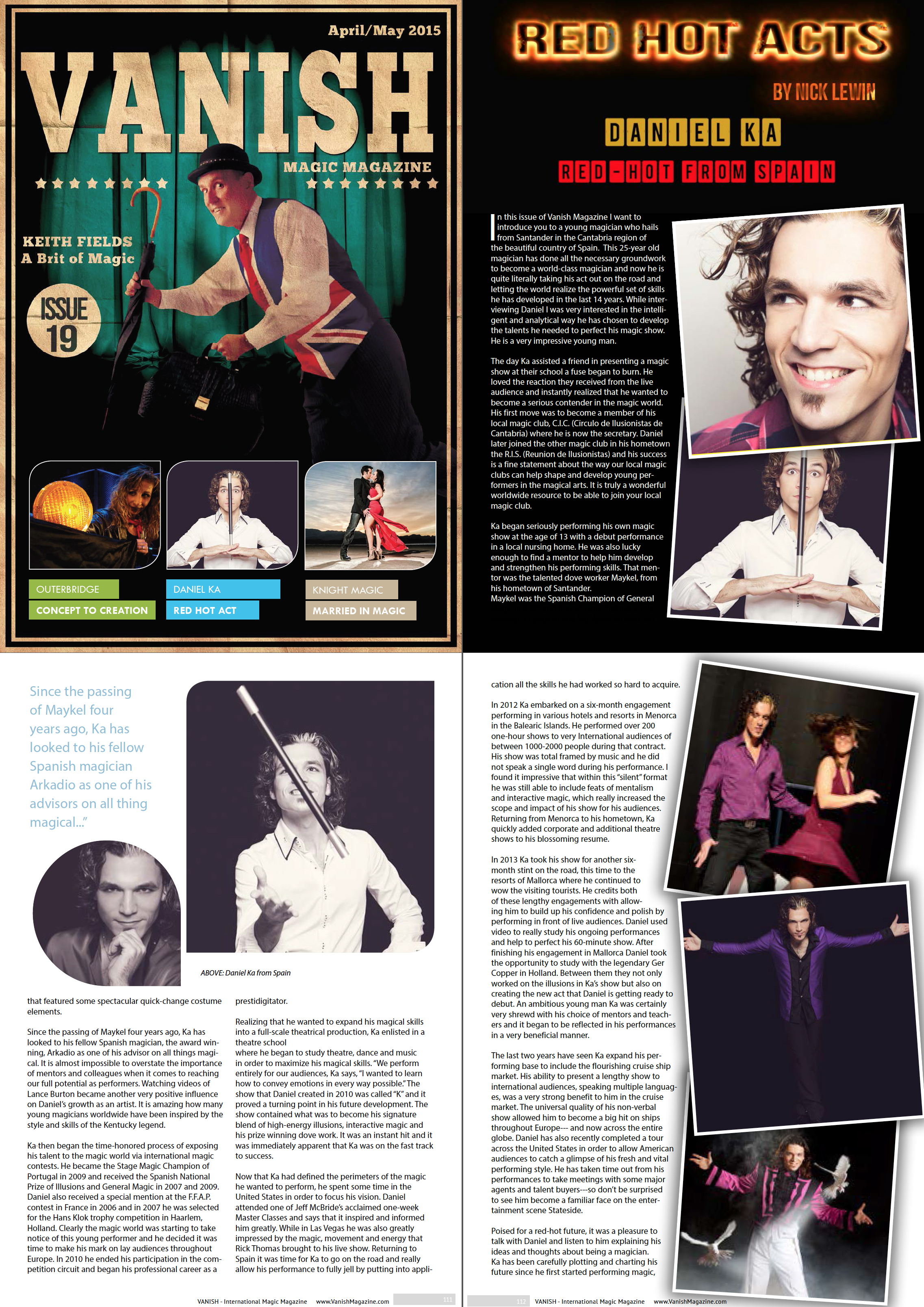 "International Magic Magazine ""Vanish"