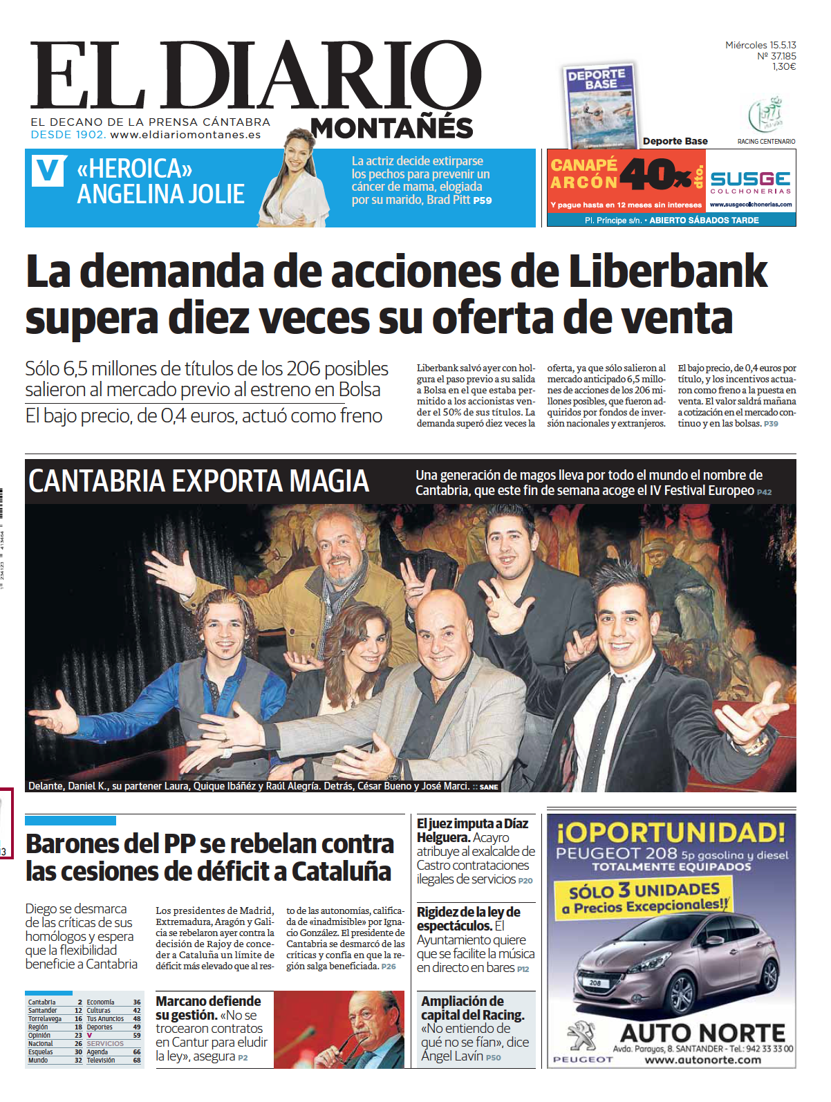 El Diario Montañés - 15/05/2013