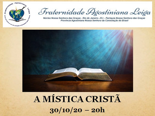A Mística Cristã. Videoconferência  ministrada pelo prof. Jorge Gabriel R. de Oliveira.