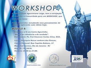 """Workshop: Conheça o conteúdo do Módulo 8 – A razão e a fé em Santo Agostinho. """"Busca da sabedoria e"""