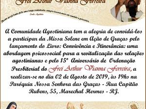 15° Aniversário de Ordenação Presbiterial do Frei Arthur Vianna Ferreira.