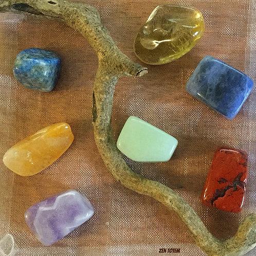 pochette pierres 7 chakras (ensemble A)