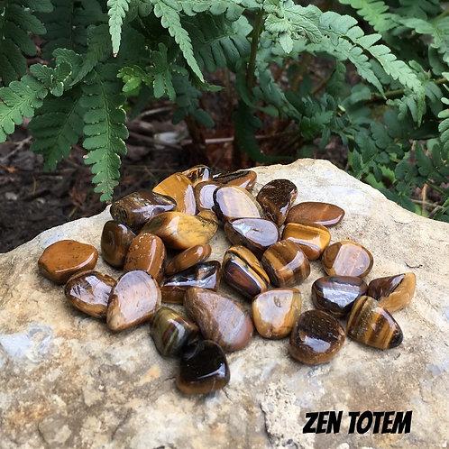Lot de 50g petites pierres roulées d' oeil de tigre
