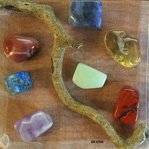 pochette pierres 7 chakras (ensemble B)