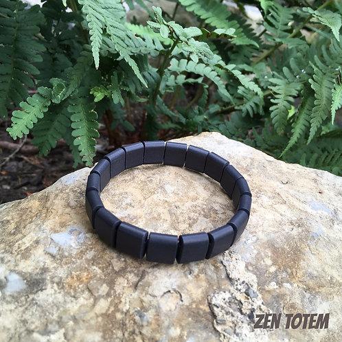 Bracelet de santé, en tourmaline noire avec ions négatifs, unisexe