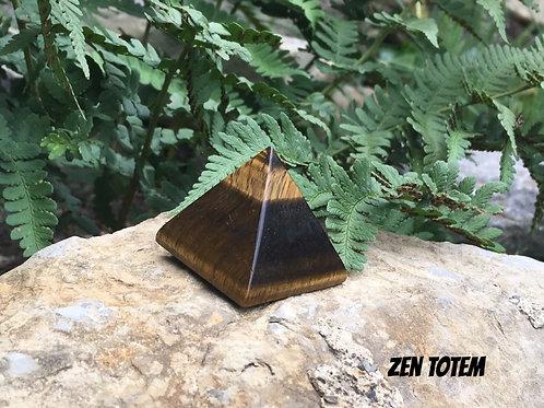 Pyramide en pierre d'oeil de tigre