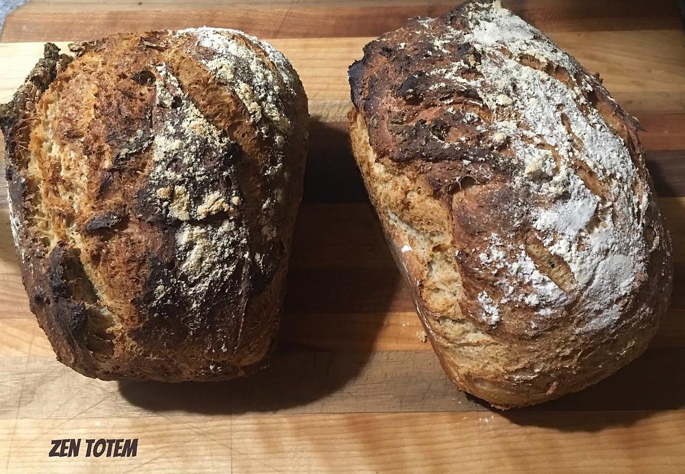 pain croustillant au blé entier - facile et rapide