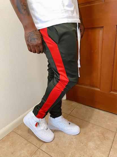 Mens Slim Fit Single Stripe Track Pants