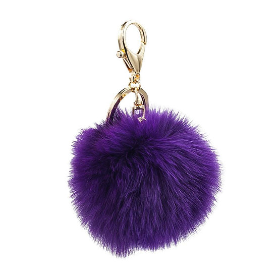 Foxy Bag Charm- Plum