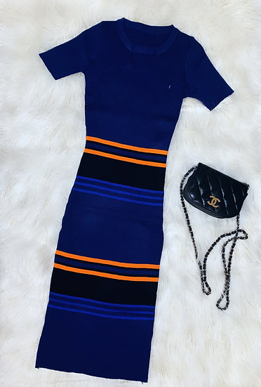 Casual short sleeve stretchy dress