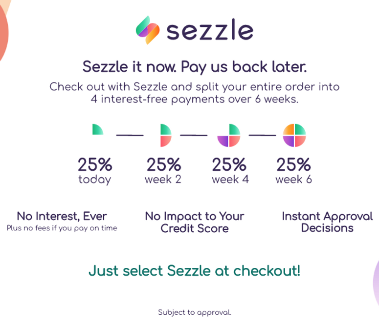 SEZZLE - shop now, pay later