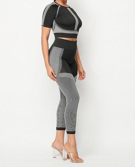 Crop top leggings set