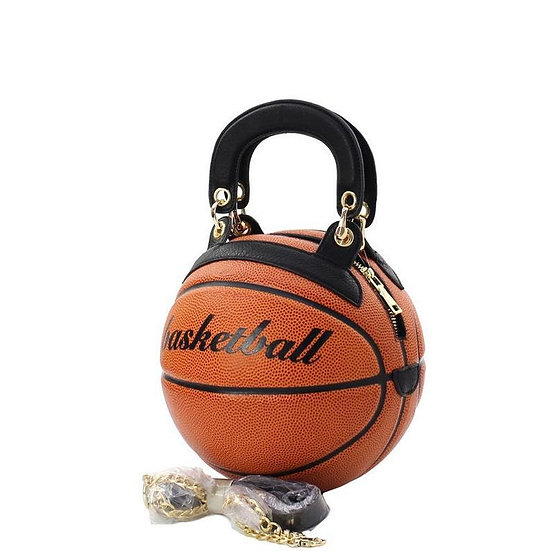 Basketballs Shaped Crossbody Purse
