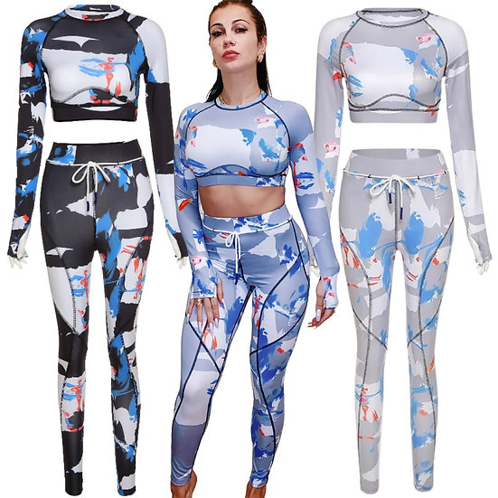 Sporty matching casual fitness set