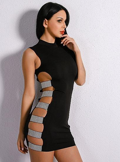Crystal Studded Bodycon Dress