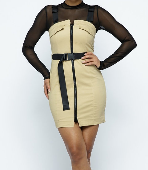 Mini dress & Mesh top