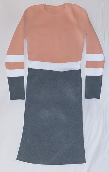 Stretchy knit dress