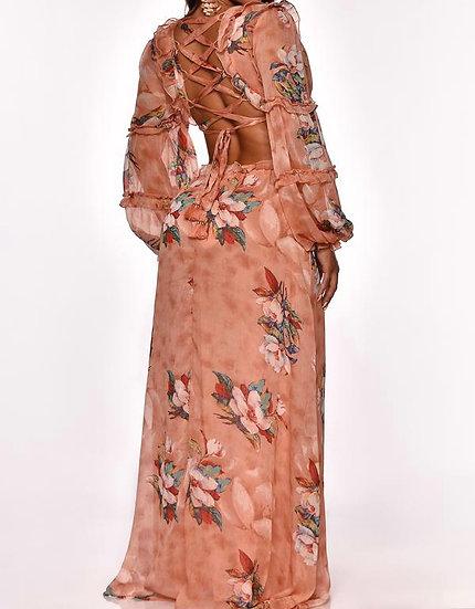 Hot Maxi floral print dress