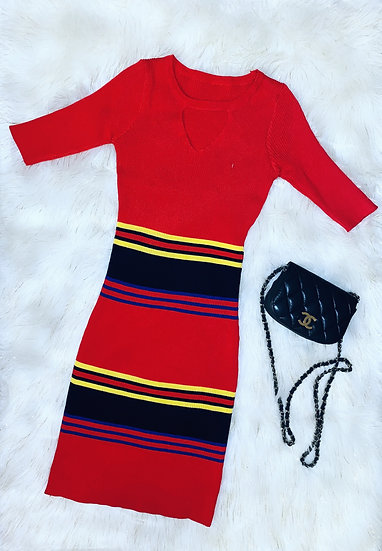 Casual stretchy knitted dress
