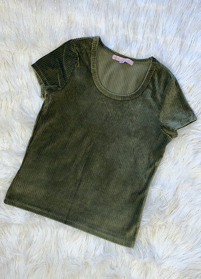 Crop Top Army Green