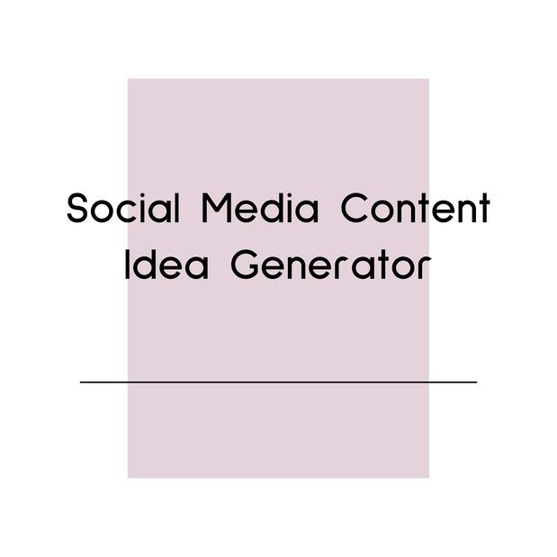 Social Media Content Idea Generator