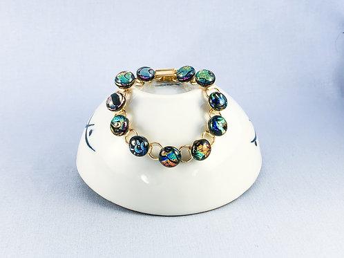 Multicoloured Glass Stones Bracelet