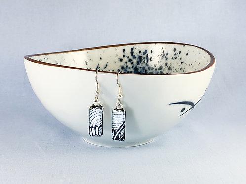 Silver Pattern Hanging Earrings