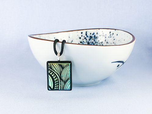 Patterned Dichroic Glass Necklace