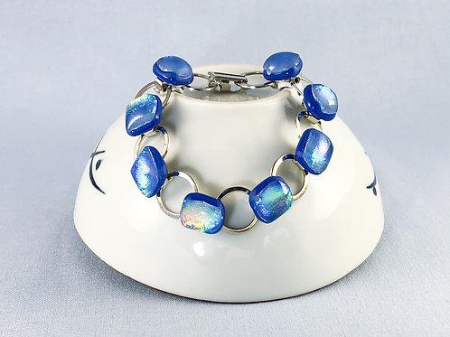 Sky Blue Glass Stones Bracelet