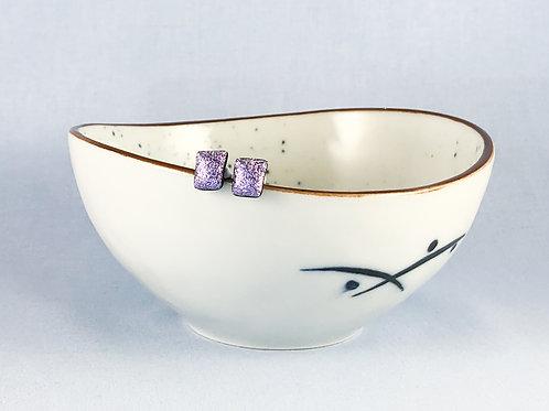 Lilac Crinkle Studs