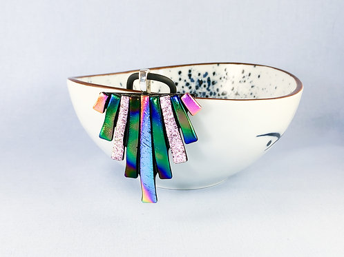 Multi Coloured Large Triangle Necklace