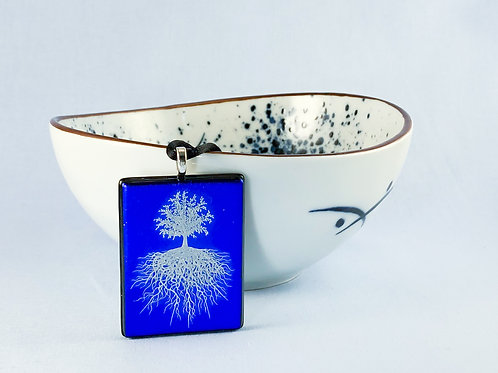 Tree of Life Decal on Blue Necklace