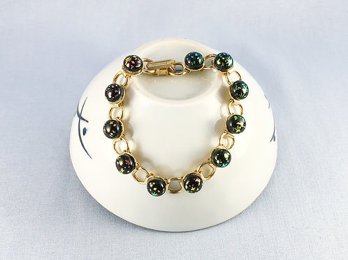 Splattered Glass Stone Bracelet