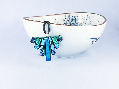 Blue Green Triangle Necklace