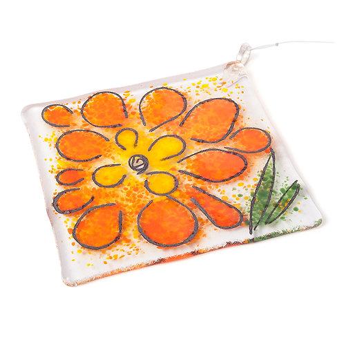 Orange Flower Suncatcher