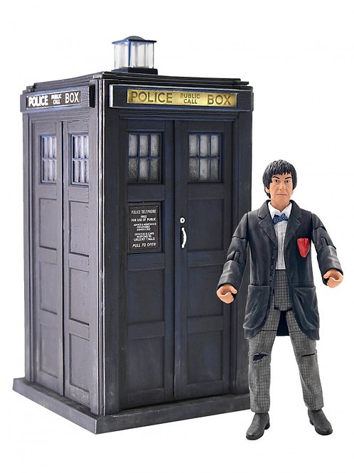 Second Doctor and TARDIS set