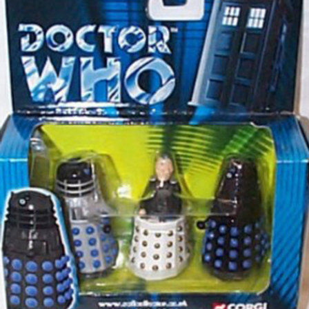 "2"" scale Davros and The Daleks Die-Cast figures"