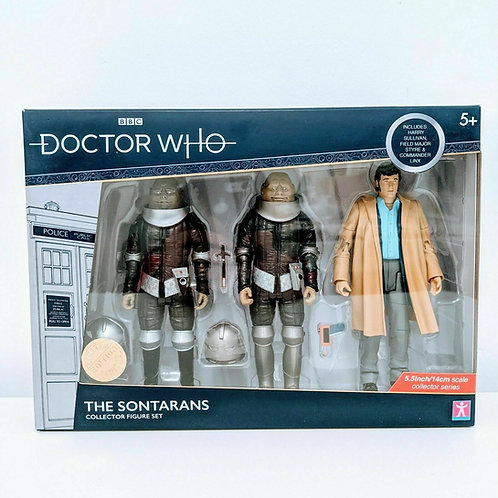 Doctor Who Sontarans & Harry Sullivan Action Figure Set