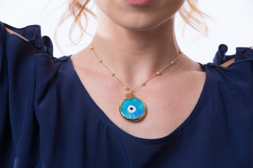 50b005999002 Necklace with Turkish Evil Eye
