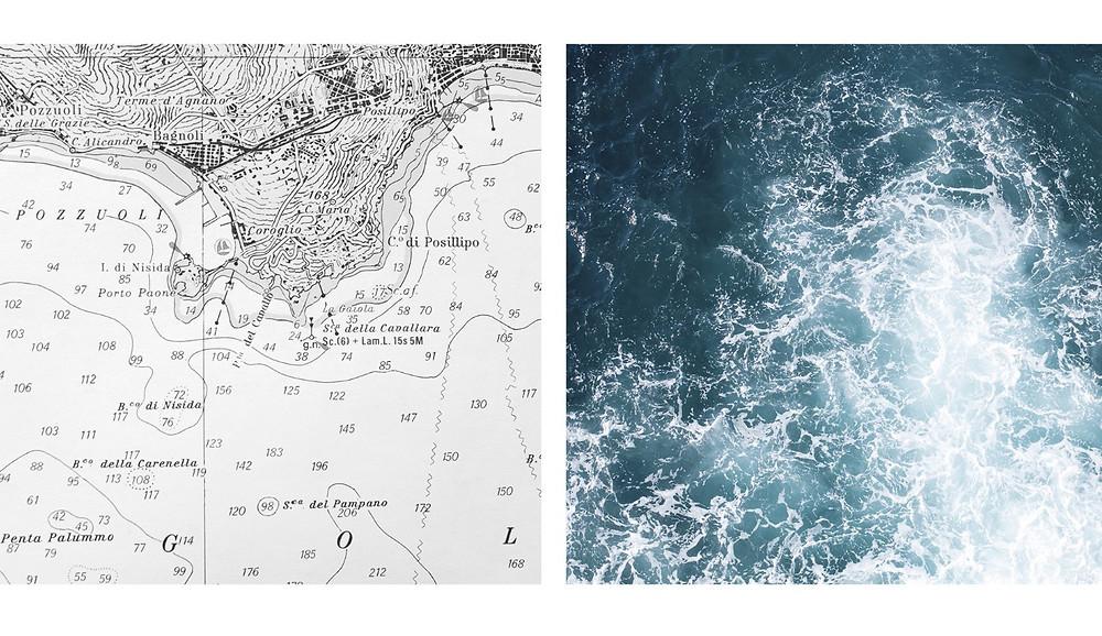 """Zetaesse. Ilaria Abbiento: """"Percorrendo la riva disegnata sulla carta nautica, ogni giorno ho esplorato un tratto di costa diverso, costruendo un archivio immaginario del mare e delle sue  variazioni"""""""