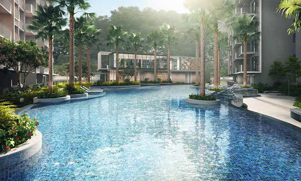 75m swimming pool in Gardens Residences