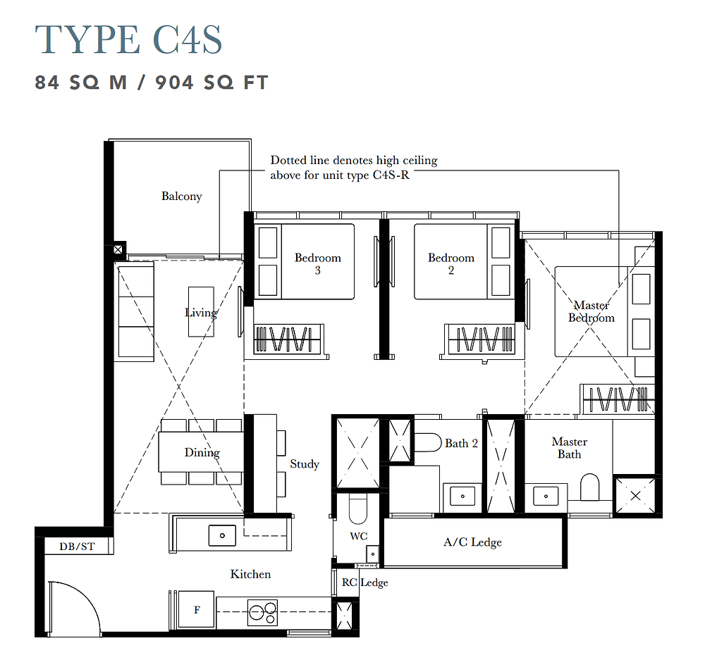 floor plan in Garden Residences