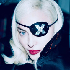 Madonna in Custom Made X Eyepatch