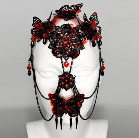 Metal Black Red ButterfLies