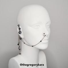 Black Pearls Earring