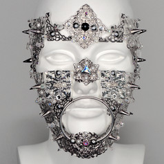 Metal Armor Face Piece with Spikes